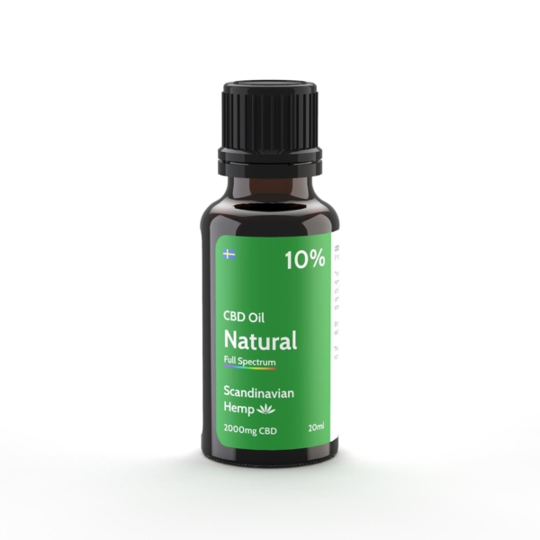 Óleo CBD 10% - natural, 20 ml