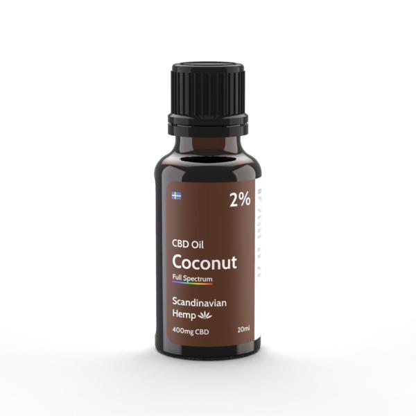 Óleo CBD de coco 2%, 20 ml