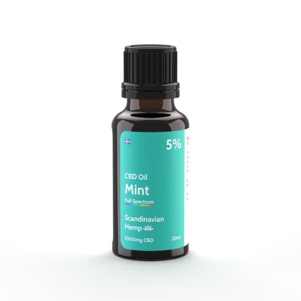 Óleo de CBD 5% - hortelã, 20 ml