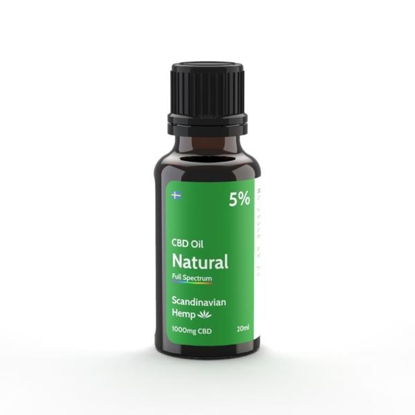 Óleo de CBD 5% - natural, 20 ml